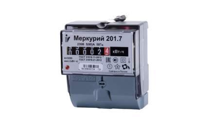 Счетчик электроэнергии Incotex Меркурий 201.7, 1 тариф, 230В, 5А
