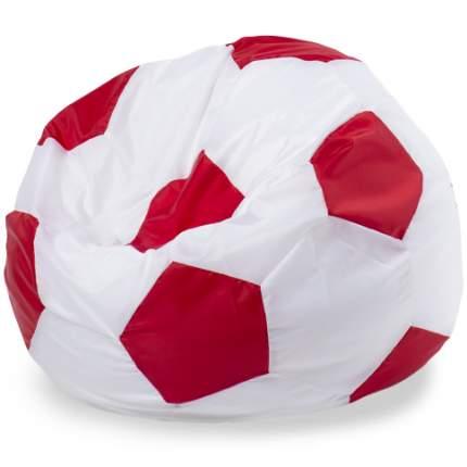 Кресло-мешок ПуффБери Мяч Оксфорд L, белый, красный