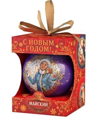Чай Майский Символы Нового Года новогодний шар черный листовой 20 г