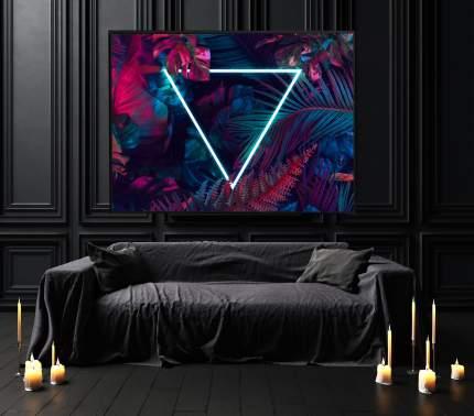 Постер Неоновый треугольник 50х70 в тубусе