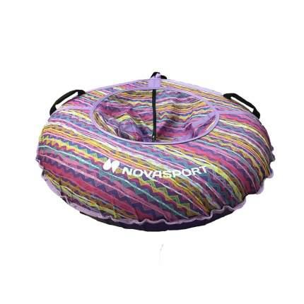 Тюбинг NovaSport 110 см без камеры CH030.110 фиолетовый/разноцветные полосы зигзаги