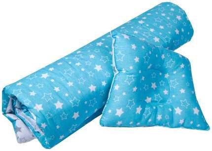 """Набор для детской коляски/кроватки """"Эдельвейс"""", 2 предмета, бязь (серый, бирюзовый)"""