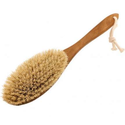 Щетка для сухого массажа Lapochka Max с щетиной кактус (тампико) жесткая