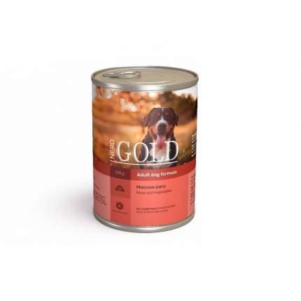 Консервы для собак NERO GOLD Adult Dog Formula, мясное рагу, 410г