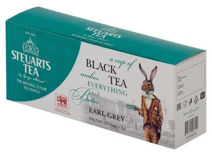 Чай черный Steuarts black tea earl grey 25 пакетиков