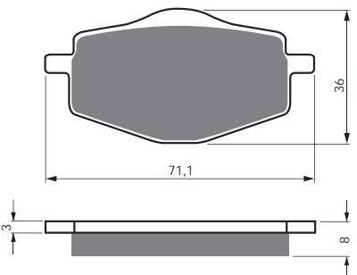 Тормозные колодки GoldFren 018 S3