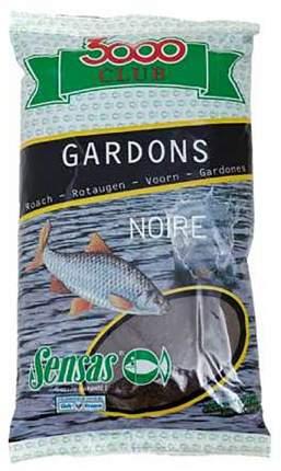 Прикормка Sensas 3000 Club Gardons Noire для ловли плотвы, 1 кг