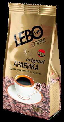 Кофе в зернах Lebo original 250 г