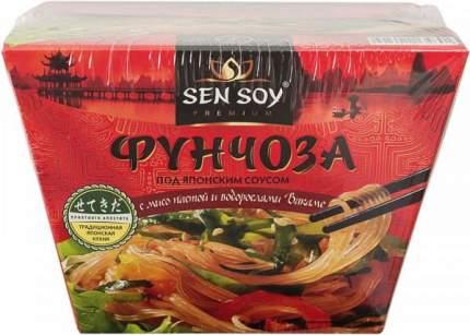 Фунчоза Sen Soy под японским соусом с мисо пастой и водорослями вакамэ 125 г