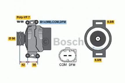 Генератор Bosch 0124615028