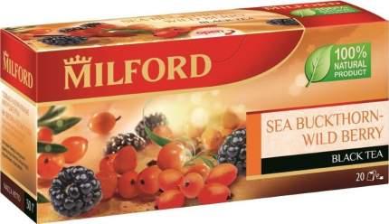 Чай Milford облепиха-лесные ягоды черный байховый в пакетиках 20 пакетиков