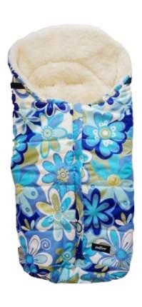 Спальный мешок в коляску Womar Wintry №12, шерсть, 15 Цветки