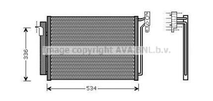 Радиатор кондиционера Ava BW5281D