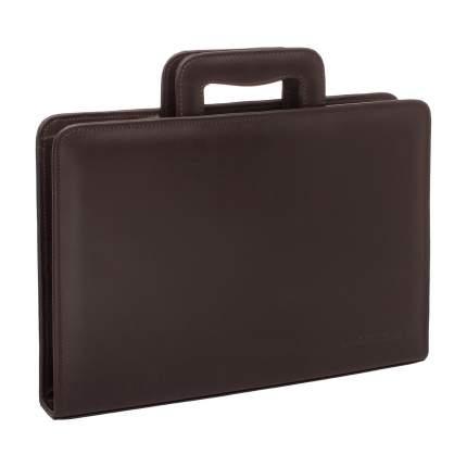 Папка для документов кожаная Lakestone Elton коричневая