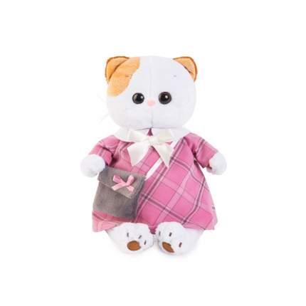 Мягкая игрушка BUDI BASA Кошечка Лили в розовом платье с серой сумочкой 27 см
