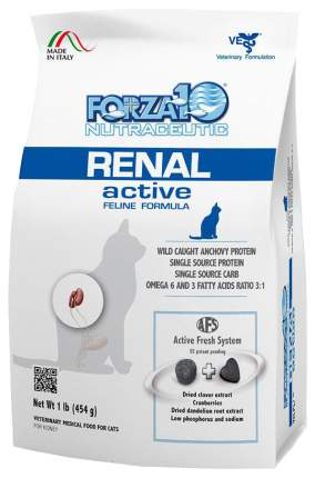 Сухой корм для кошек Forza10 Active Line Renal, при почечной недостаточности, рыба,0,454кг