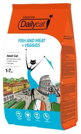 Сухой корм для кошек Dailycat Casual Line, рыба, мясо, овощи, 0,4кг