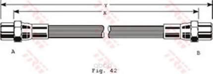 Шланг тормозной системы TRW/Lucas PHA126 задний