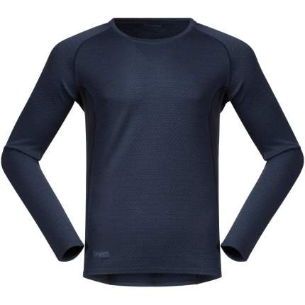 Лонгслив Bergans Snoull Shirt 2019 мужской темно-синий, XL