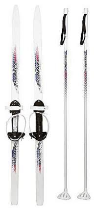 Лыжи подростковые Дартс-Ковров Ski Race с палками, универсальное крепление 150 110