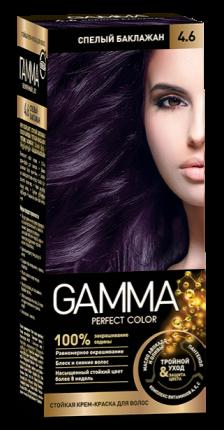 Краска для волос SVOBODA GAMMA Perfect color спелый баклажан 4,6, 50гр