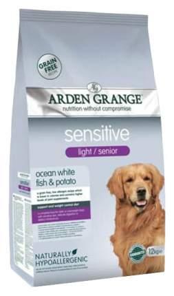 Сухой корм для собак Arden Grange Sensitive Light/Senior, рыба, 12кг