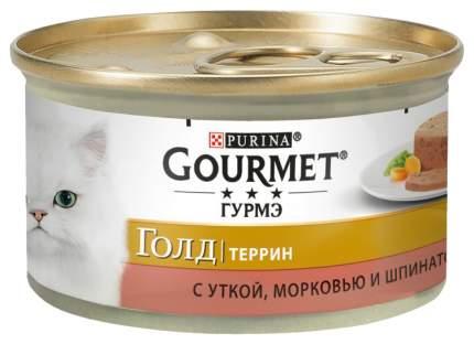 Влажный корм для кошек Gourmet Голд утка, оливки 85 г
