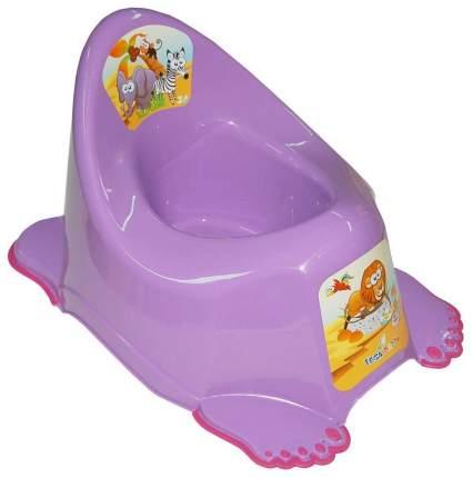Горшок детский Tega Baby Сафари антискользящий музыкальный фиолетовый