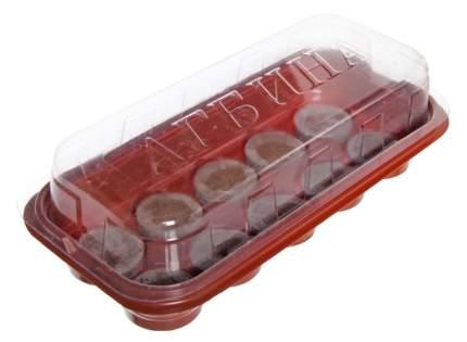 Мини-тепличка Джиффи (10 ячеек) + 10 торфяных таблеток 44 мм