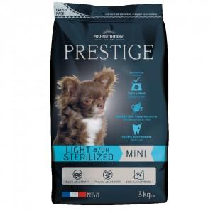 Сухой корм для собак Flatazor Prestige Light/Sterilised Mini, птица, злаки, 3кг