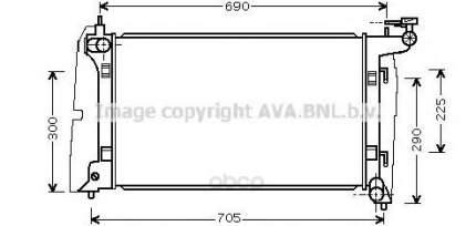 Pадиатор системы охлаждения акпп Toyota Avensis, Corolla 02 Ava TO2323