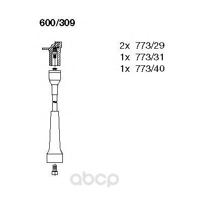 Комплект высоковольтных проводов BREMI 600/309