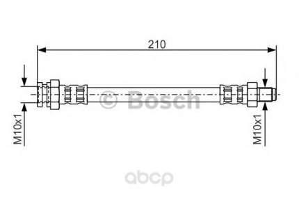 Шланг тормозной системы Bosch 1987476502 передний