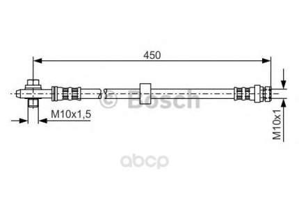 Шланг тормозной системы Bosch 1987476648 передний