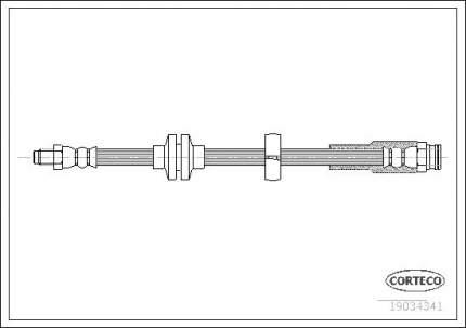 Шланг тормозной CORTECO 19034341