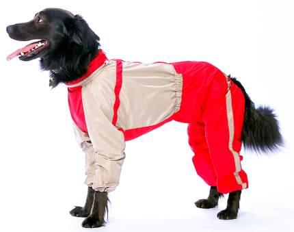 Комбинезон для собак ТУЗИК женский, красный, серый, длина спины 60 см