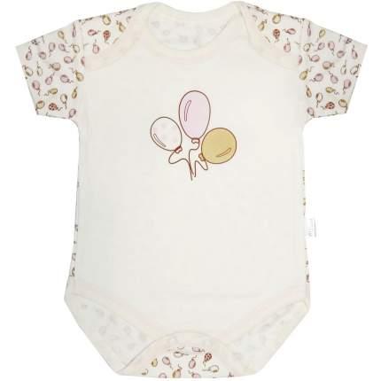 Боди Папитто капелька Воздушные шарики розовый/экрю р.20-62 И430-03