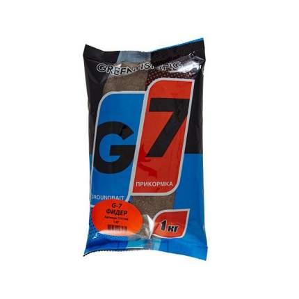 Прикормка летняя Green Fishing G7 Фидер 1 кг