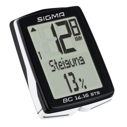 Велокомпьютер Sigma BC 14.16 STS CAD black/white