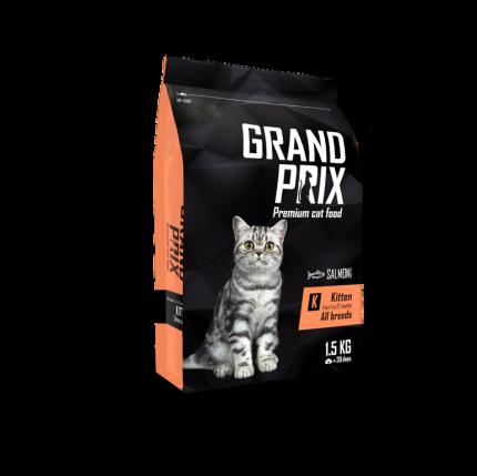 Сухой корм для котят Grand prix Kitten, лосось, 1,5кг