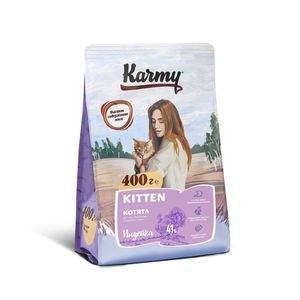 Сухой корм для котят Karmy Kitten, индейка, 0,4кг