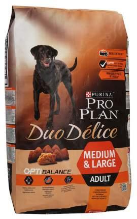Сухой корм для собак PRO PLAN Duo Delice Medium & Large Adult, курица и рис, 10кг