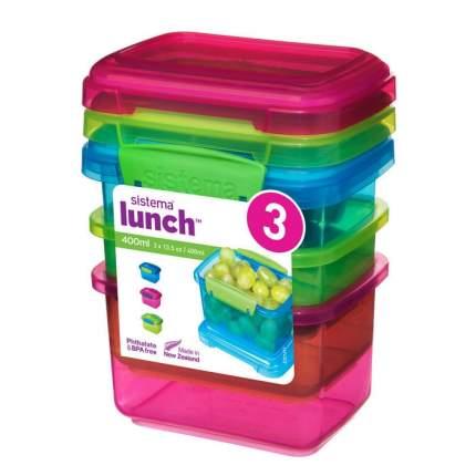 Sistema Набор контейнеров Lunch (3 шт) 400 мл
