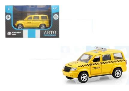 АВТОПАНОРАМА Машинка металлическая Такси, желтая, 1200062