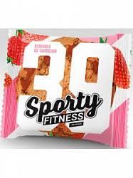 Sporty Fitness Cookie 40 г (вкус: клубника) Низкокалорийное фитнес-печенье без сахара