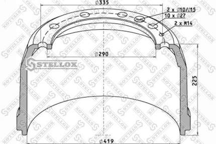 Тормозной барабан STELLOX 85-00047-SX