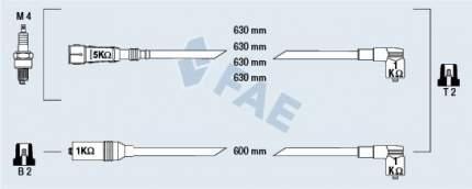 Комплект проводов зажигания FAE 85692