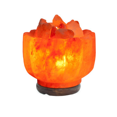 Соляная лампа Ваза с камнями с диммером
