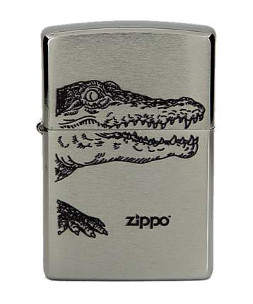 Бензиновая зажигалка Zippo №200 Alligator Brushed Chrome