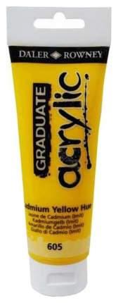 Акриловая краска Daler Rowney Graduate кадмий желтый 120 мл